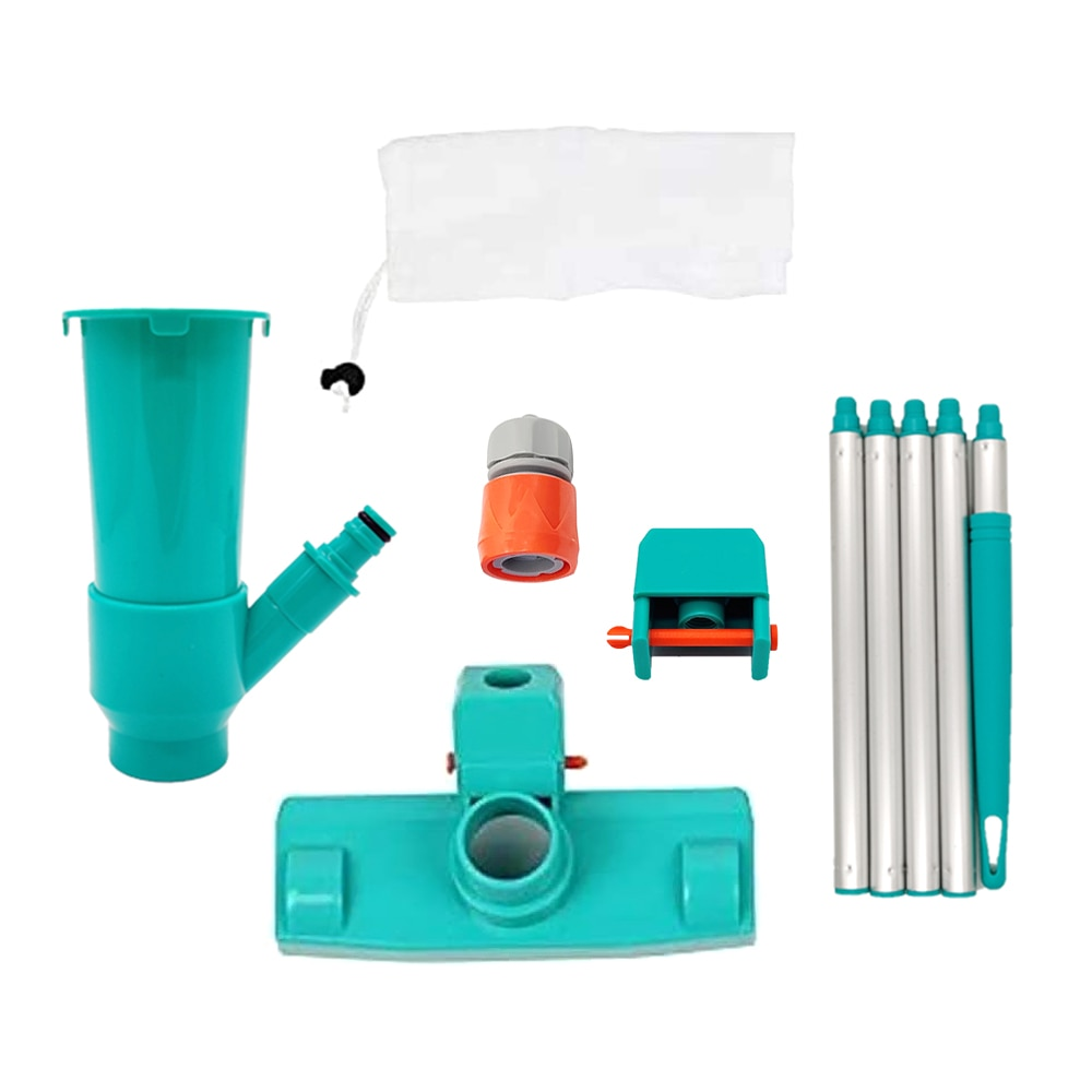 H2e977b2e3ea54aa6a39c7dc29923a2ecL - Hot ! Mini Jet Swimming Pool Vacuum Cleaner Tools set Objects Suction Fountain Pond Head Vacuum Brush Cleaner Cleaning Tools