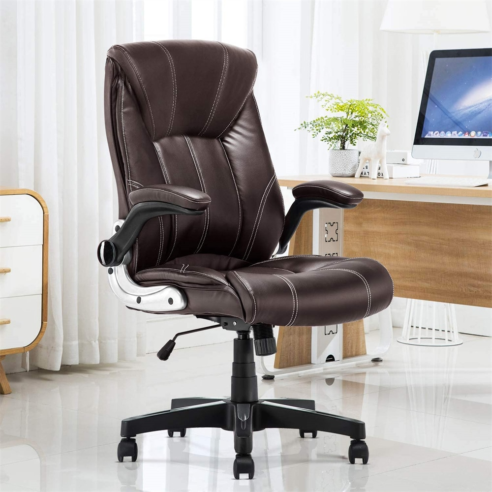 H2eceee9bc8224271b68b1587263685f3Z - Office Chair Commercial Ergonomic High-Back Bonded Leather Executive Chair with Flip-Up Arms and Lumbar Support pc gaming chair