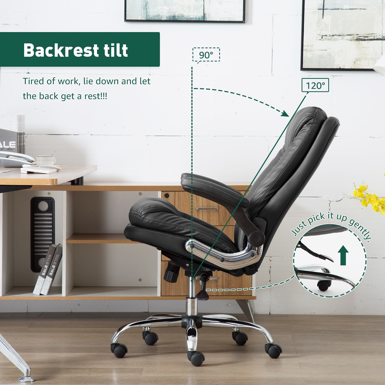 H2f13f59787a145a8bbaeecd2c059df70M - Yamasoro Ergonomic Office chair Faux PU Leather Chair Executive Computer Desk Chairs Managerial Executive Chairs