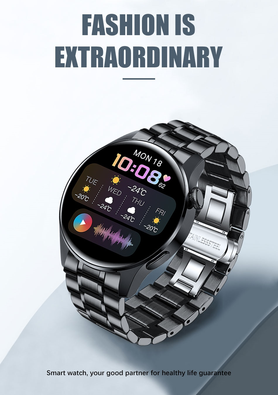 H3053151c8cea4e53a37a7b790650c95bA - LIGE New Bluetooth Call Smart watch Men Full touch Screen Sports fitness watch Bluetooth is Suitable For Android ios Smart watch