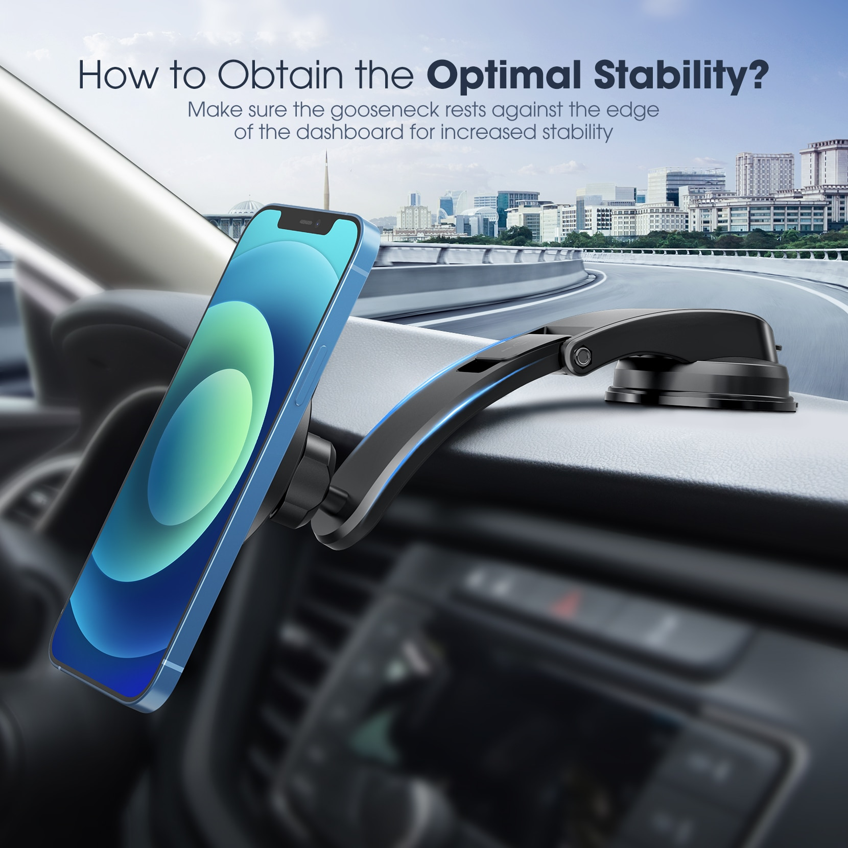 H315f2dc4654341808a7bd06b2d27146eW - MPOW CA171 Magnetic Phone Car Mount Dashboard Car Phone Mount Holder Strong Magnet Phone Mount for Car Compatible with iPhone
