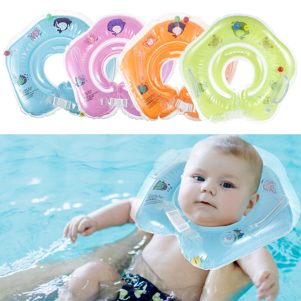 H31e03dfd5ad34e5f9bfe9eb63b87dc09v - Swimming Baby Accessories Neck Ring Tube Safety Infant Float Circle for Bathing Inflatable Flamingo Inflatable Water