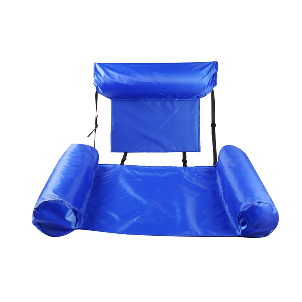 H32aa0f744bef49258ddb7488ad4cc260Q - Inflatable Foldable Floating Row Backrest Air Mattresses Bed Beach Swimming Pool Water Sports Lounger float Chair Hammock Mat