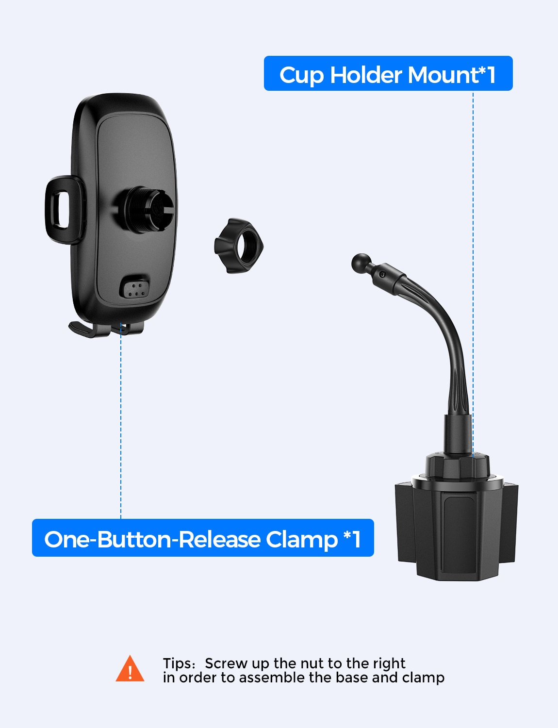 H33f61b8305a24bf49ee29197cc156269T - Mpow CA136 Car Phone Holder 360 Degree Flexible Long Arm and Adjustable Clamp Universal Phone Cradle Mount for For iPhone 12 XS