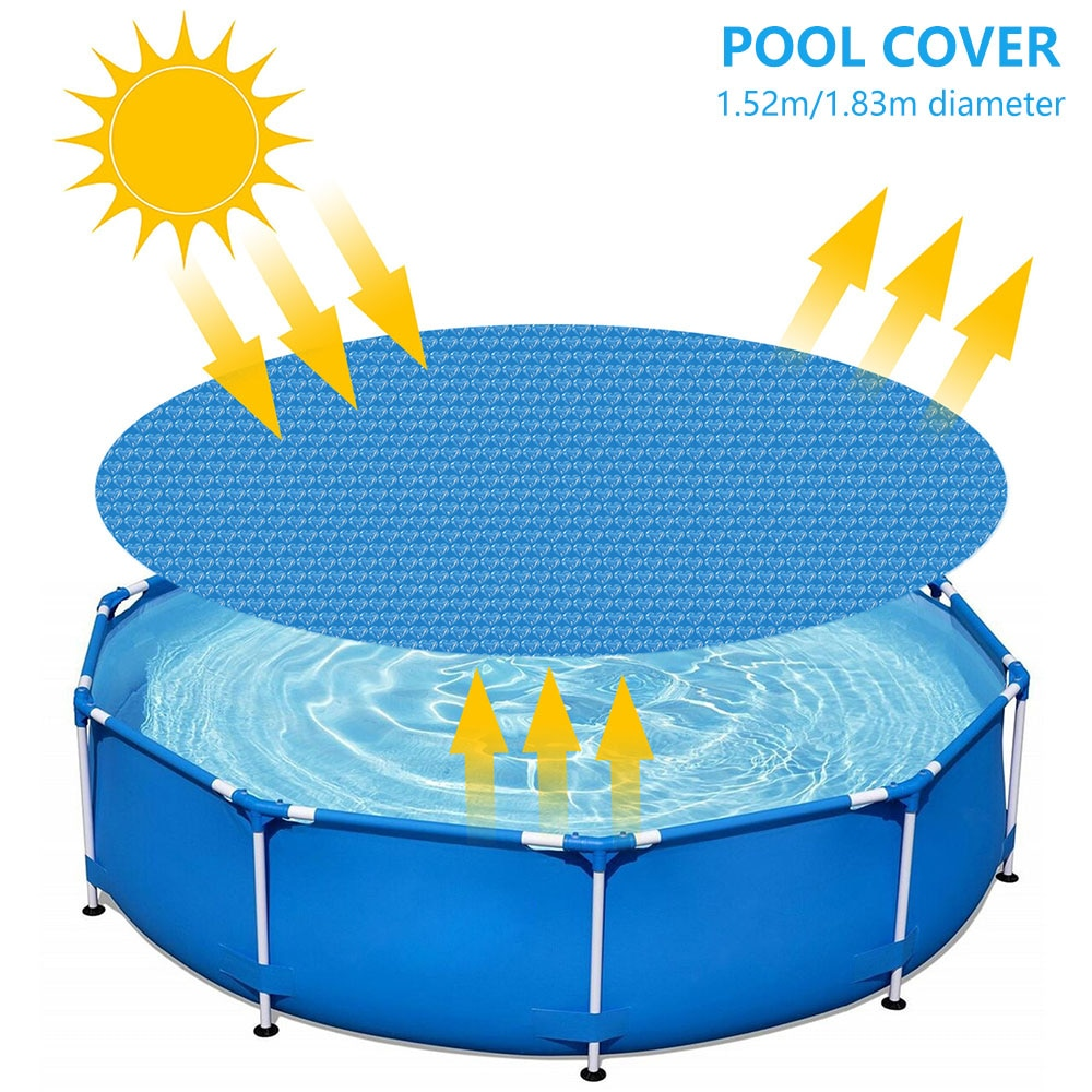 H3564770605754082a39e8594ed7cfb84C - Swimming Pool Solar Heat Shield Dustproof Cover Round Pool Protector Cover Frame Pool Mat Cover Pool Film Accessories