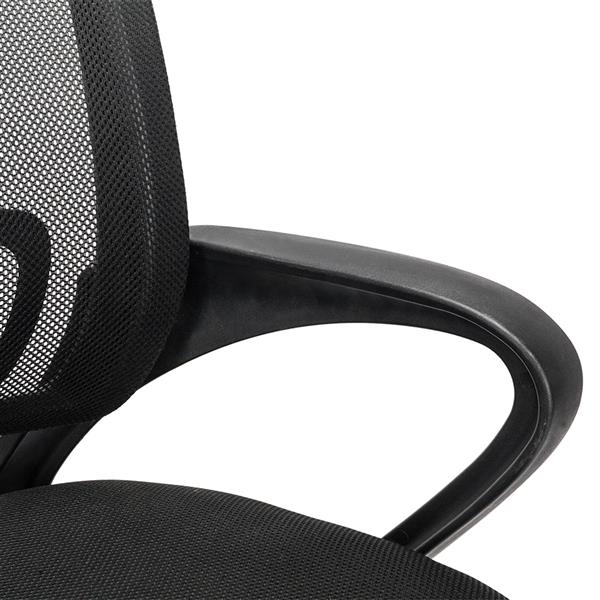H3635e2ff98bd45aaa795b5964ad3ba0cM - Mesh Back Office Chair Gas Lift Adjustable Height Swivel Chair Durable Plastic Armrests White&Black[US-Stock]