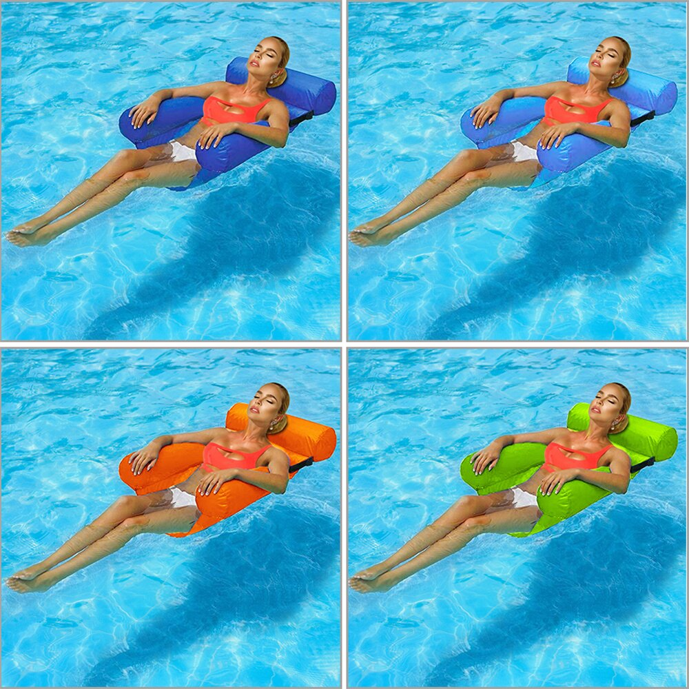H36ac7c889d2843d5b0239812a613d76fU - Inflatable Foldable Floating Row Backrest Air Mattresses Bed Beach Swimming Pool Water Sports Lounger float Chair Hammock Mat