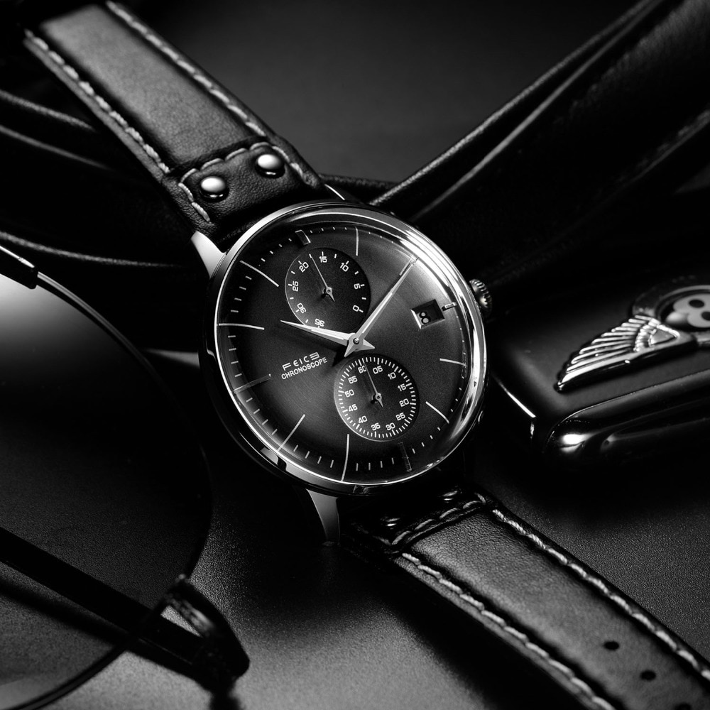 H37e74612ef124b3482048bf2c6030294g - FEICE Men's Automatic Mechanical Watch 35 Hours Energy Reserve Watches Waterproof Domed Mirror Bauhaus Dress Watch FM212