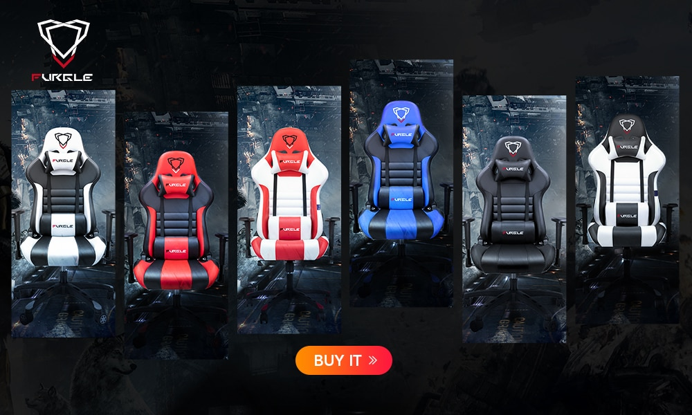 H382b63e6a93c4650be199801899fad2cZ - Furgle ACE Series Office Chair 4D Armrest Gaming Chair Larger Seat Wider Back Side Computer Chair Swivel Leather Armchair Home