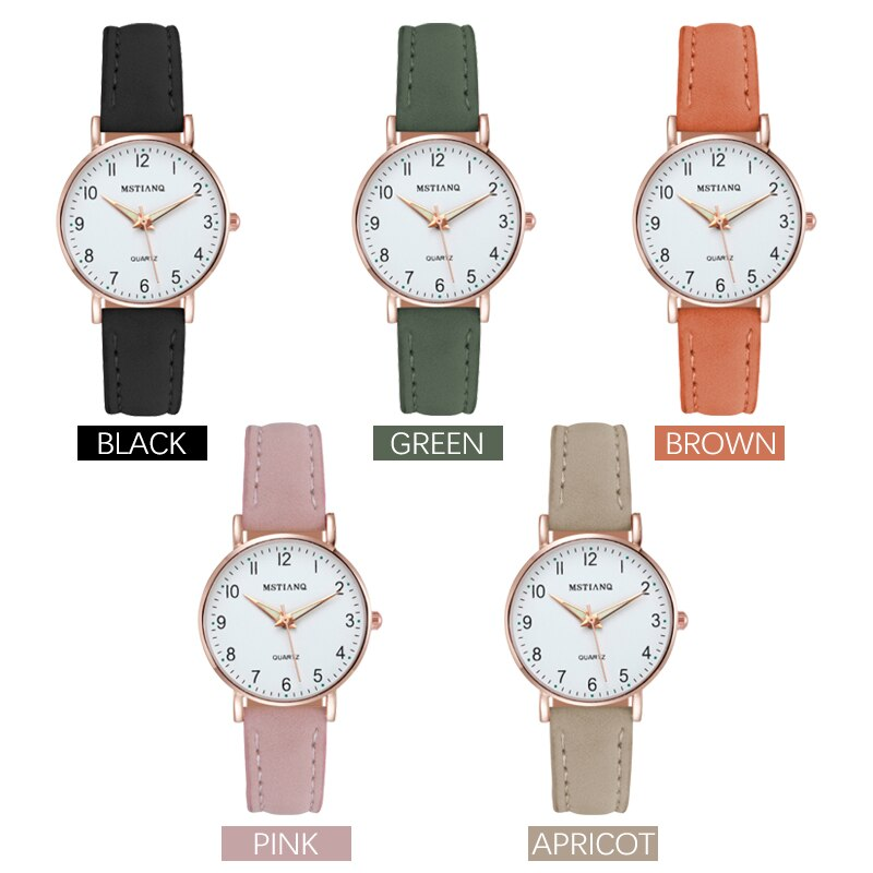 H390699a6a6794def86f007c7ccddfb03k - 2021 New Watch Women Fashion Casual Leather Belt Watches Simple Ladies' Small Dial Quartz Clock Dress Female Watch Reloj mujer