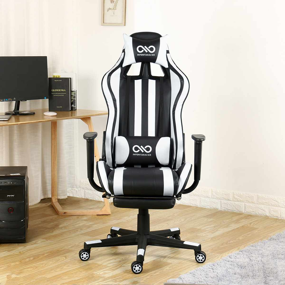 H3a84991c274744ecb8cf61b087006b2br - Office Gaming Chair PVC Household Armchair Lift and Swivel Function Ergonomic Office Computer Chair Wcg Gamer Chairs
