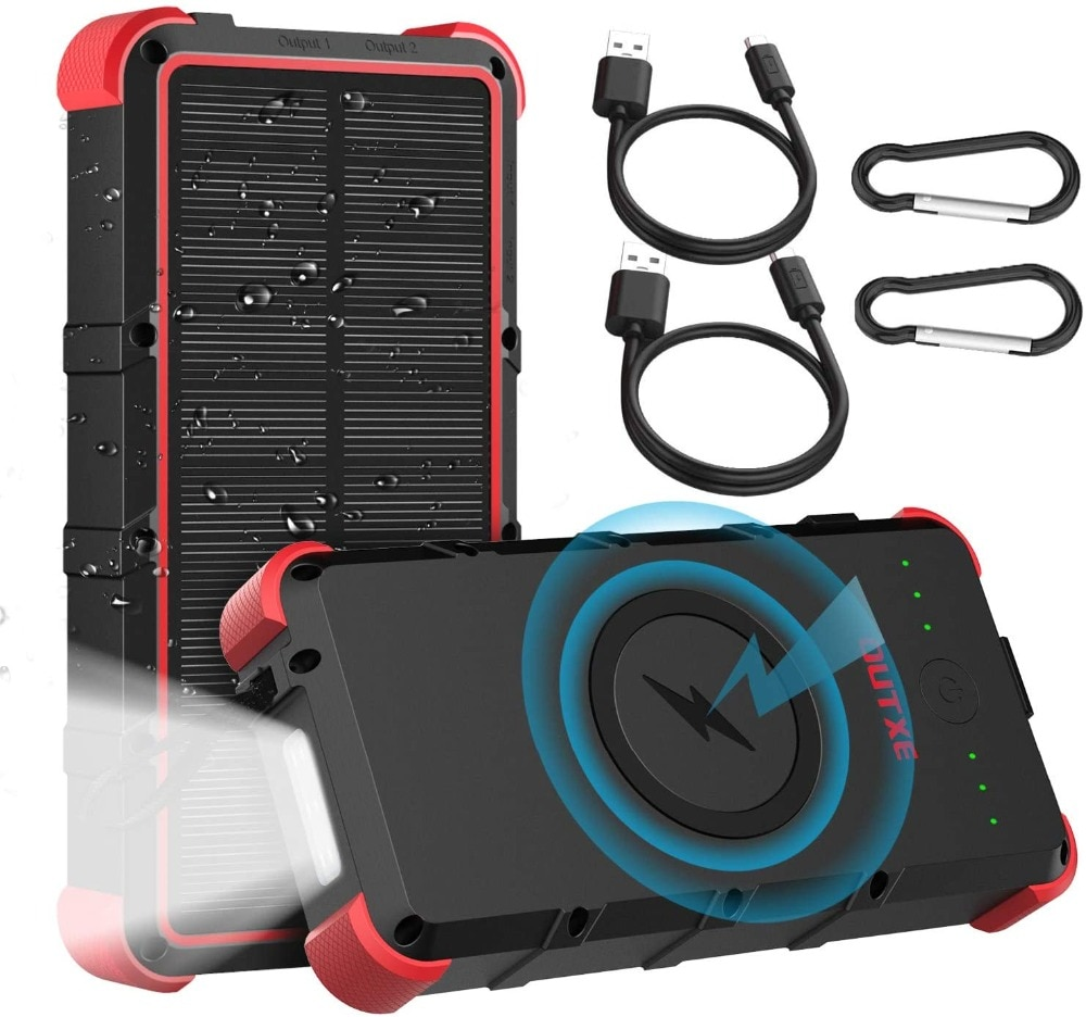 H3b9f8c8f62b240ccadb18fdd76d8ce9dI - Outxe Outdoor 25000mAh Powerbank Rugged Solar Power Bank Wireless IP67 Waterproof Quick Charge Poverbank Battery with Flashlight