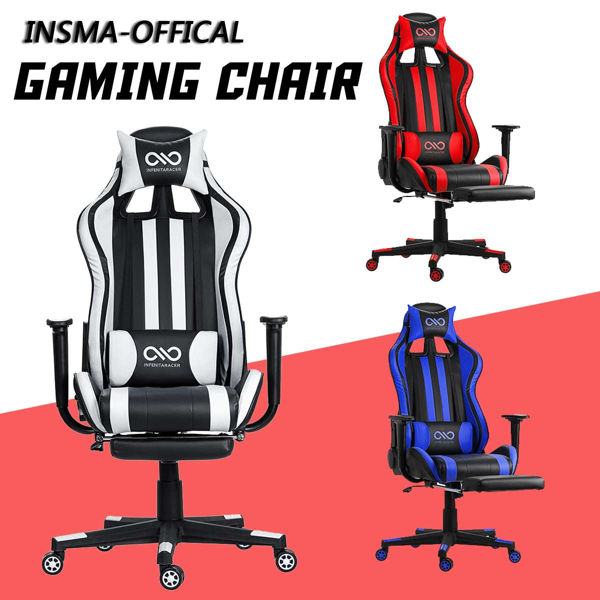 H3c7713759cbd473e9a12335e75980448p - WCG Gaming Chair Computer Armchair Office Chairs Home Swivel Massage Chair Lifting Adjustable Desk Chair Lying Recliner Chair