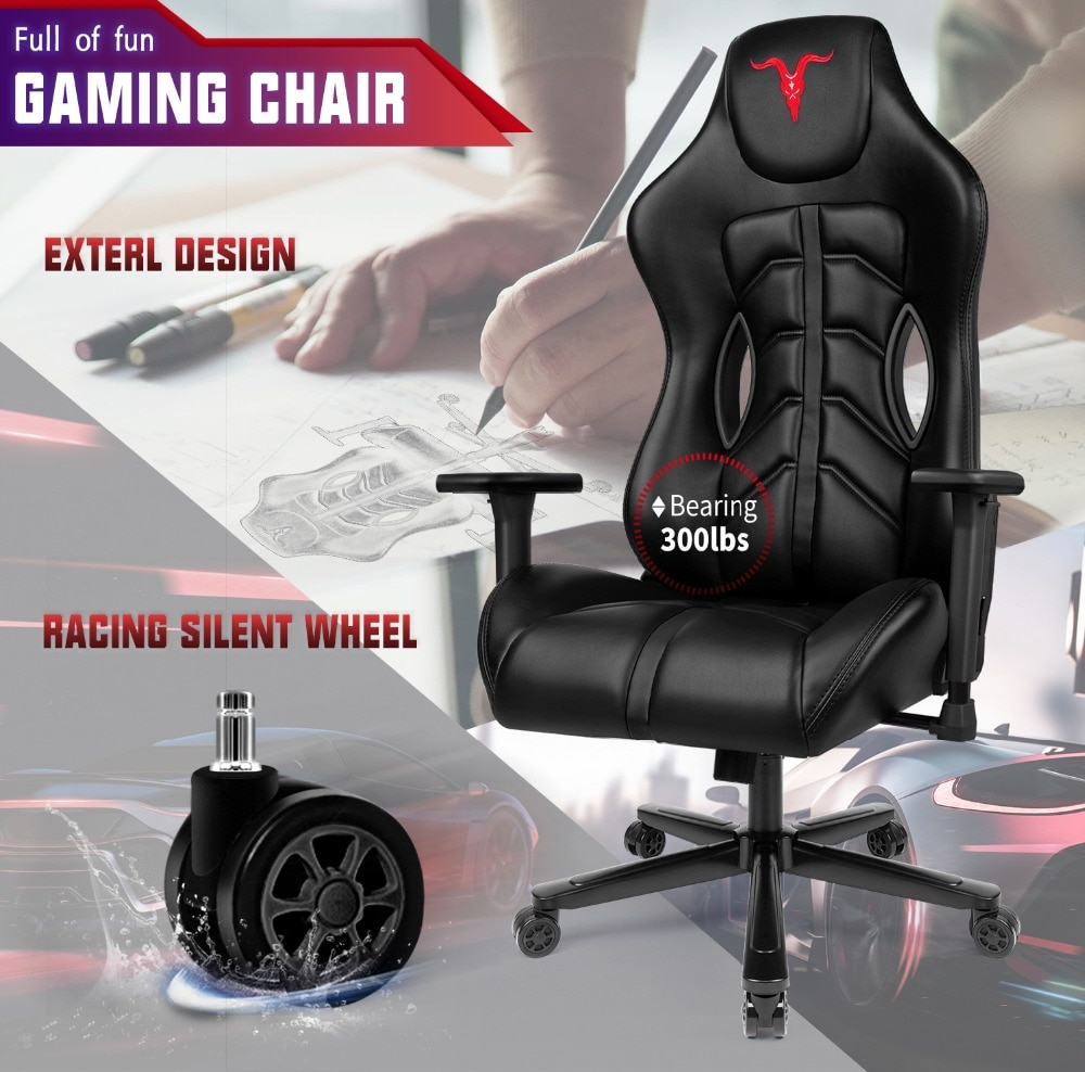 H3cedec862ba0433a9a051c16b62126f5Z - Furgle ACE Series Office Chair 4D Armrest Gaming Chair Larger Seat Wider Back Side Computer Chair Swivel Leather Armchair Home