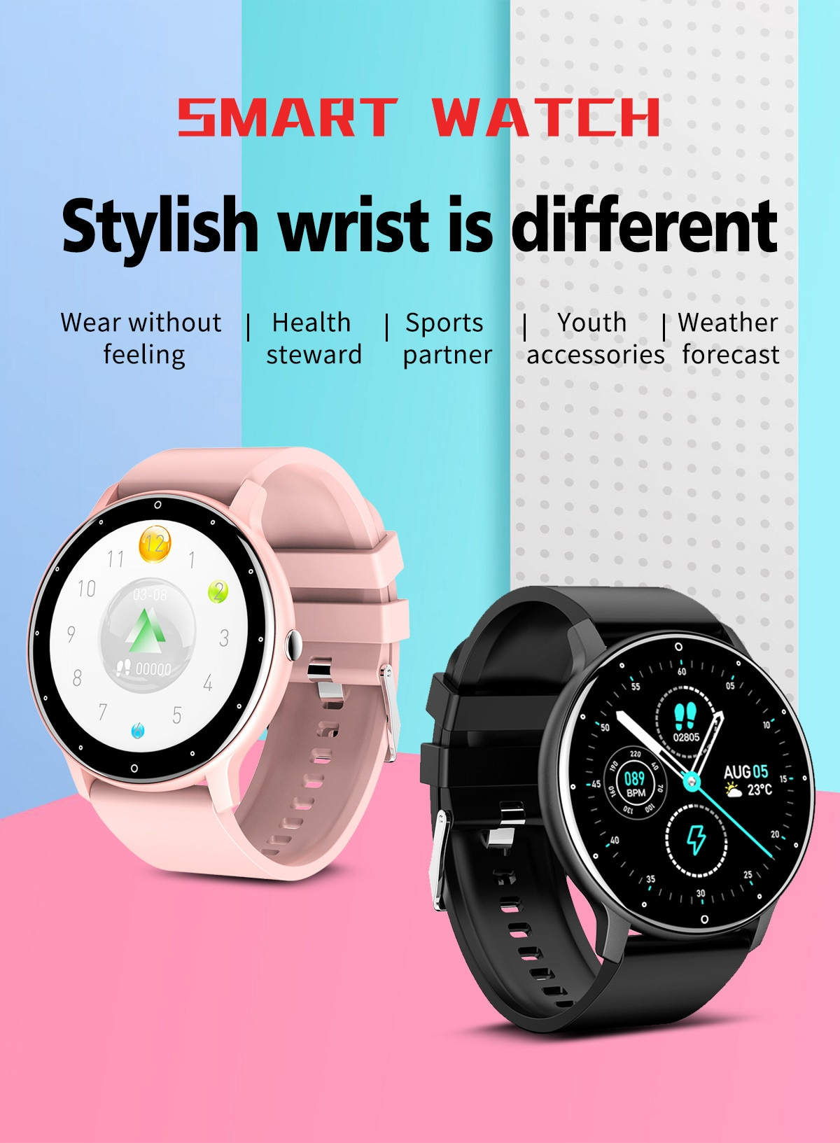 H3d268868f9b64d4db296a57ba403f9232 - LIGE 2021 New Men Smart Watch Real-time Activity Tracker Heart Rate Monitor Sports Women Smart Watch Men Clock For Android IOS