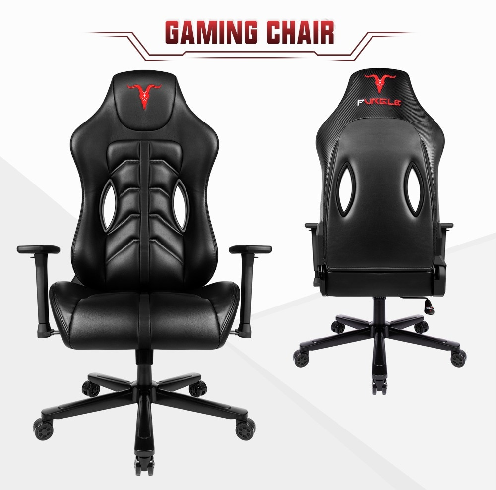 H3eef1dab9c4048ecaaf01aef4a21b302n - Furgle ACE Series Office Chair 4D Armrest Gaming Chair Larger Seat Wider Back Side Computer Chair Swivel Leather Armchair Home