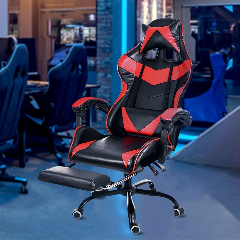 H3fa5ef7246e54c17b0a06c837dc725feT - Office Chair WCG Computer Gaming Chair Reclining Armchair with Footrest Internet Cafe Gamer Chair Office Furniture Pink Chair