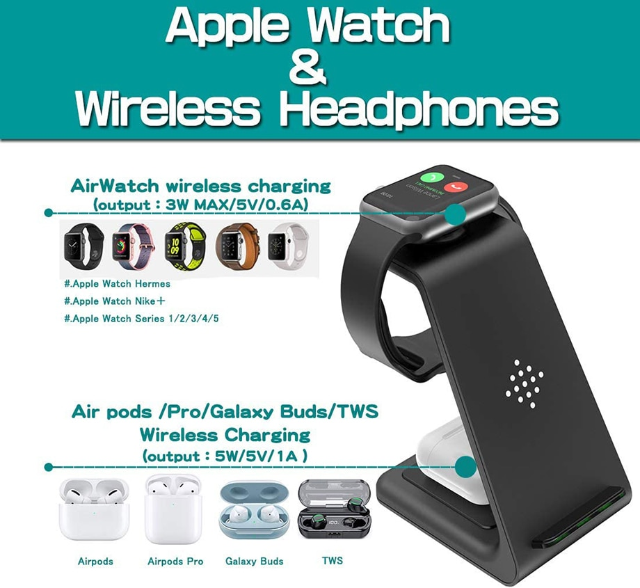 H3fe63e3f57e4436fa40fb8357099ecb3u - Bonola Qi 3 in1 Wreless Chager Stand for iPhone11/XR/Xs/AirPods3/iWatch5 Fast Wireles Chargeing For SamsungS20/S10/Watch/Buds