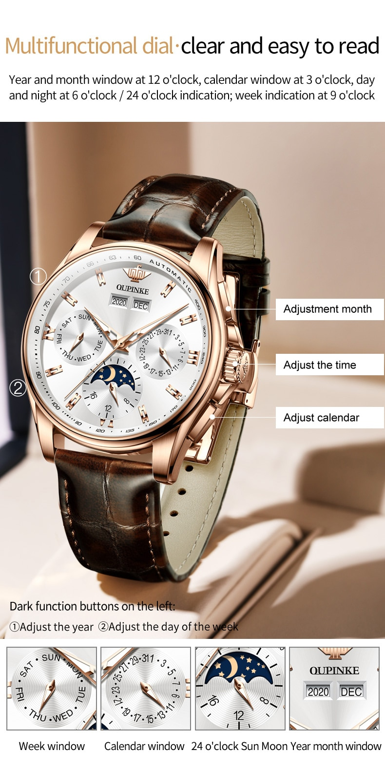 H40698a757ea14731ab01c58777bf1e3br - OUPINKE Men Mechanical Watch Luxury Automatic Watch Leather Sapphire Waterproof Sports Moon Phase Wristwatch Montre homme