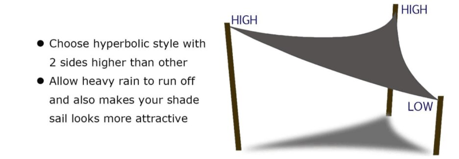 H413108f443924e5dbbbd5d69da988512t - Waterproof Oxford Rectangle Triangle Shade Sail Garden Canopy Swimming Sun Shelter Outdoor Camping Yard Sail Awnings 2M/3M/4M/5M