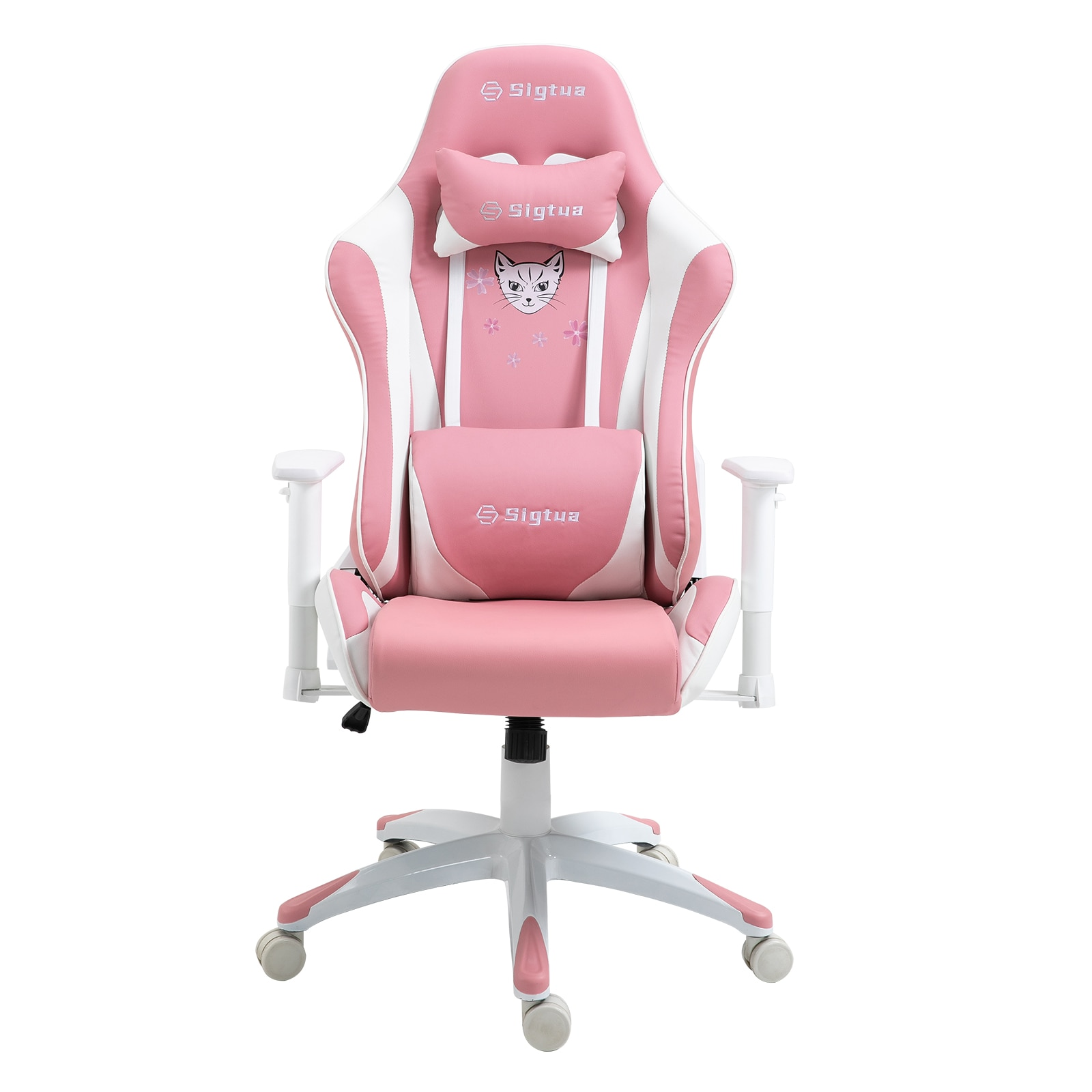 H428ad07f00dc4429ab54e37c76ea6b334 - Sigtua Pink Gaming Office Chair Height-adjustable Armrests Computer Chair Ergonomic Swivel Executive Chair with High Backrest