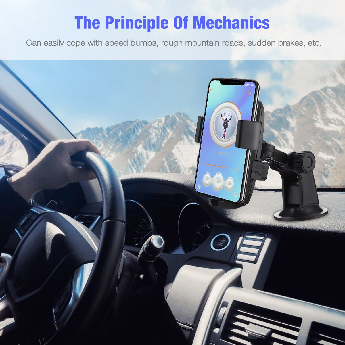 H42a749486eb04129a7c16e370ca184ddo - 360 Degree Rotatable Car Phone Holder For 2.4 to 3.4inch Phone Mount Stand in Car Bracket For Poco x3 pro iPhone Xiaomi Samsung