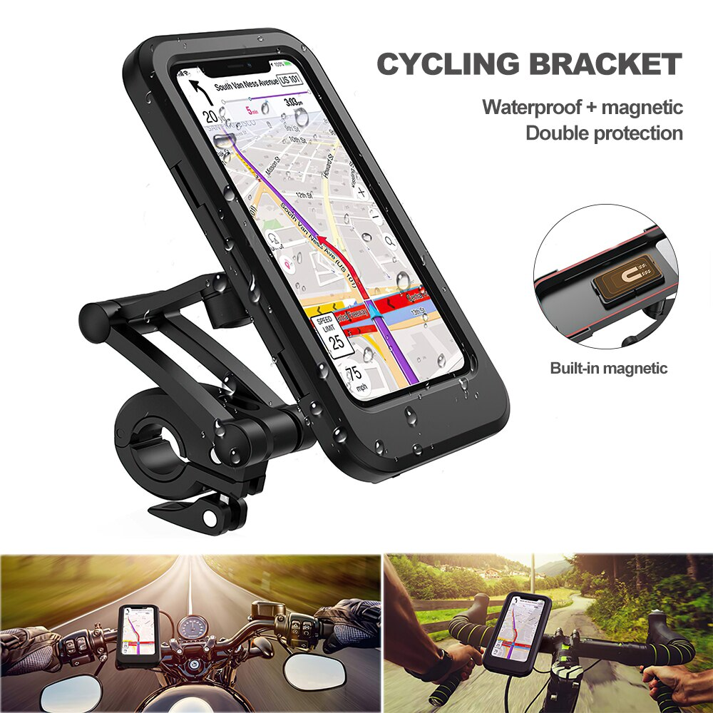 H437c606af36f49f18a8643dea7d86d80W - TRAVOR Phone Holder Adjustable Stand Car Phone Holder Clip Waterproof Bracket Bicycle Handlebar Mobile Support Mount Phone Stand