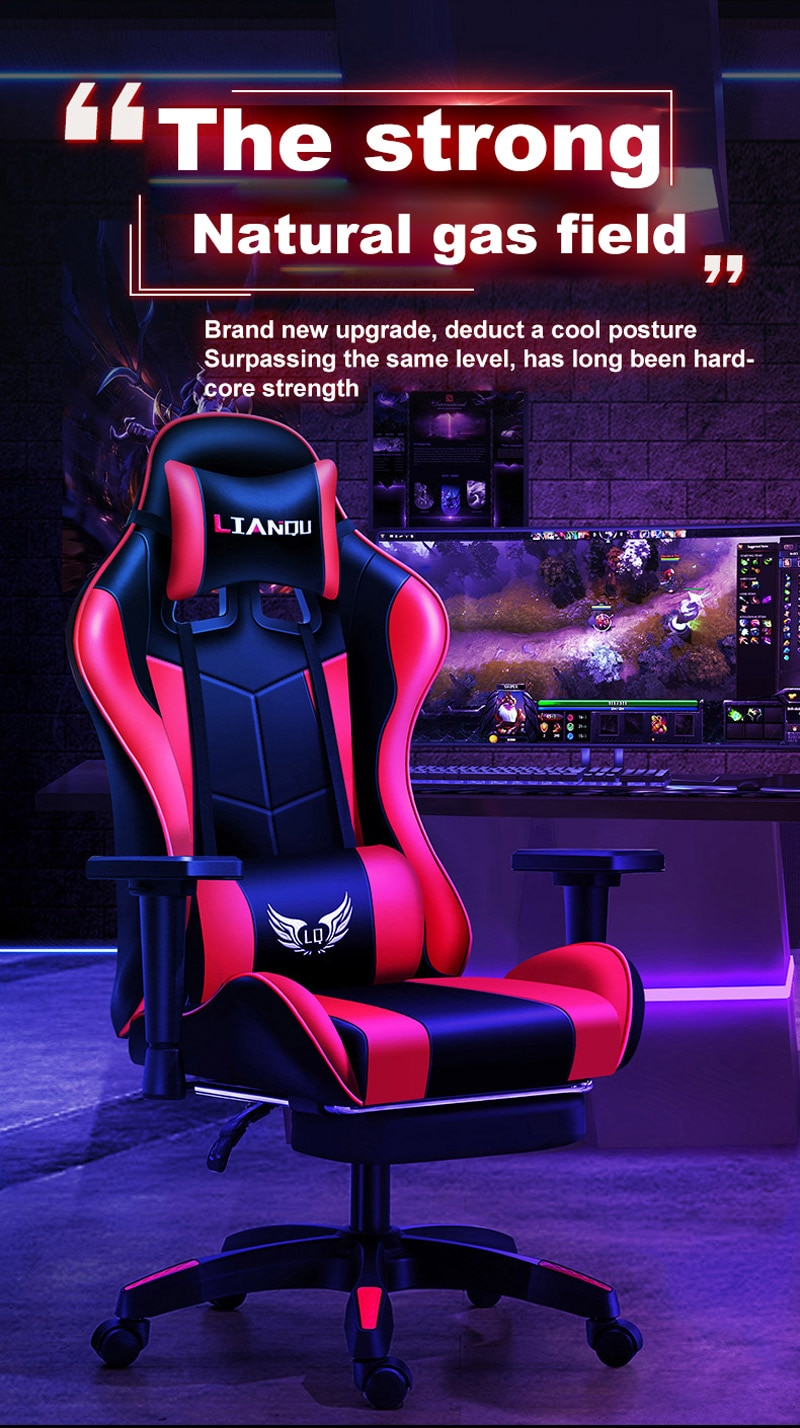 H43986e446c664213b42952ddd1954442V - Computer Gaming Chair Safe And Durable Office Chair Ergonomic Leather Boss Chair Wcg Game Rotating Lift Chair High Back Chair