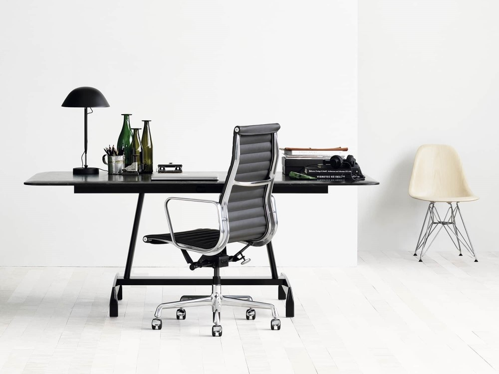 H44402e9d839c40a9be123387b86f6b3aW - Furgle Executive Office Chair Mid Back PU Leather with Arms Rest Tilt Gaming Chair Adjustable Height with Wheels Swivel Chairs