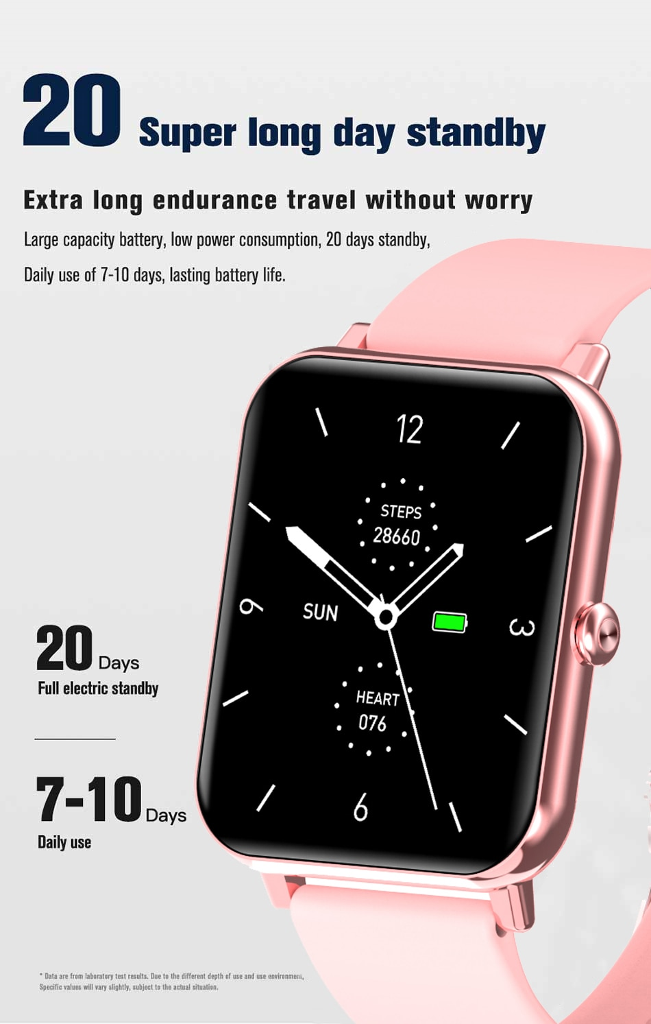 H444623500f4e4154aa72acbaa609d9cd1 - LIGE New 1.69 Inch Full Touch Smart Watch Women Real-time Heart Rate Body Temperature Monitor IP67 Waterproof Smartwatch Ladies