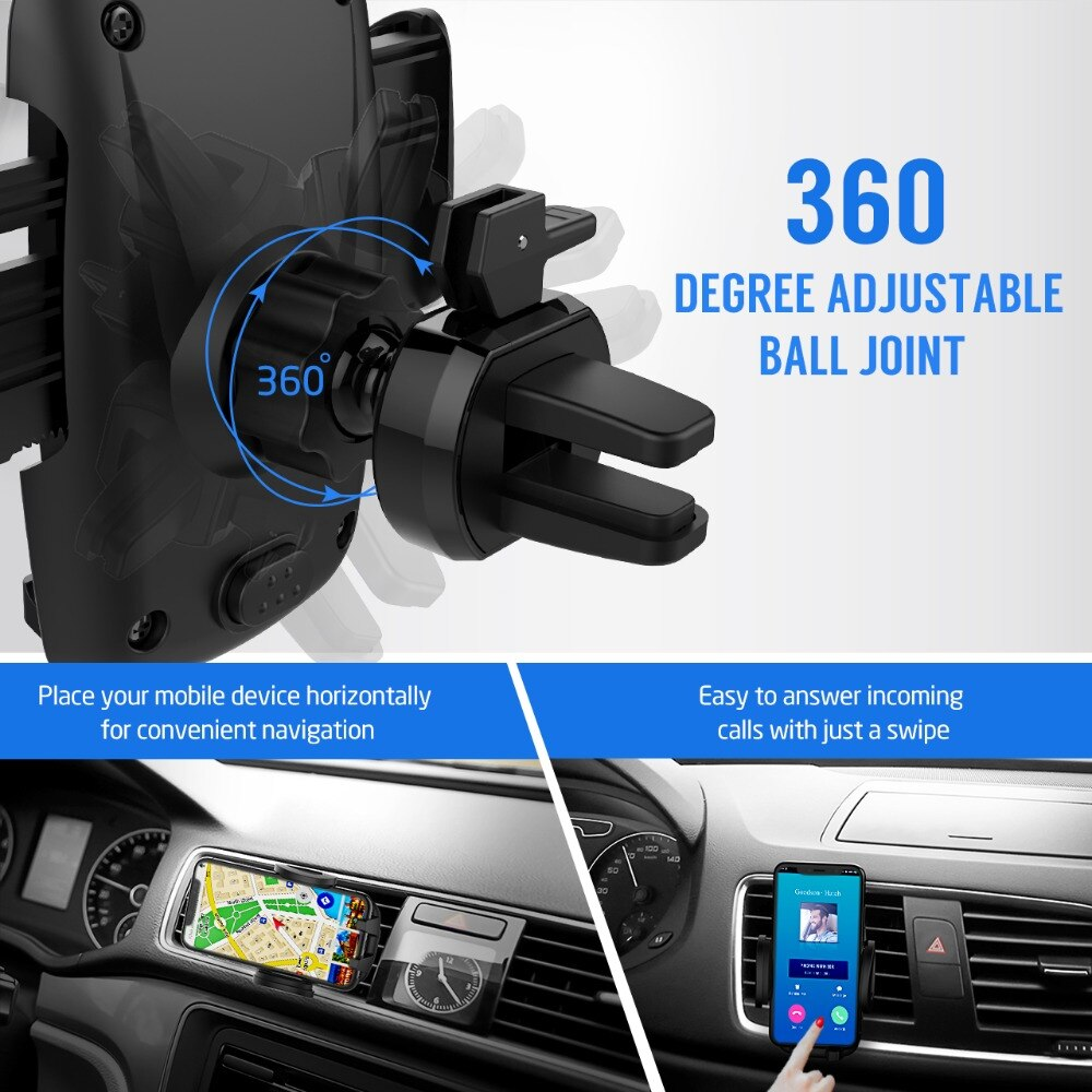 H47f394caf99d46b7aa2f5dc529cdf5bcX - Mpow Air Vent Car Mount Holder Universal Cell Phone Cradle 3-level Adjustable Clamp Mobile Phone Stand Cradle For iPhone X/8/7/6