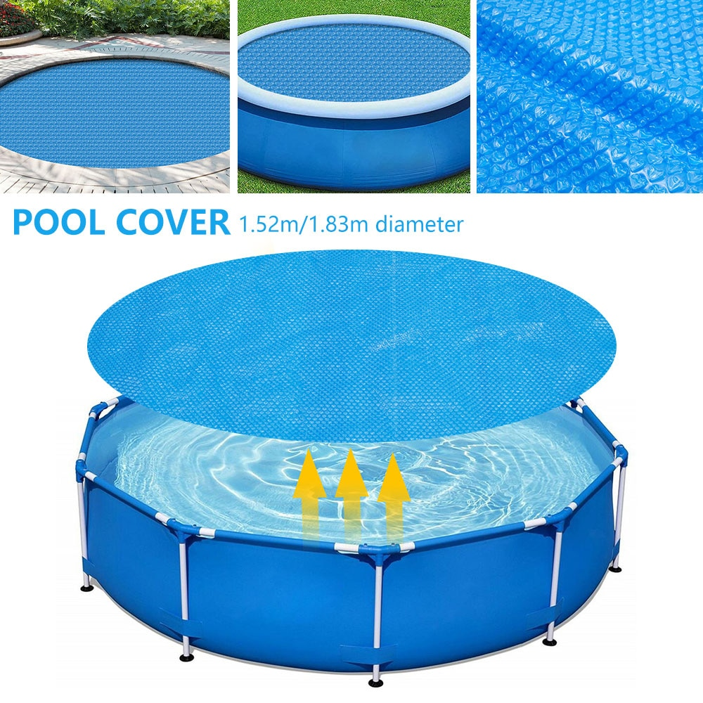 H494e1fbb62974b4f97e03fe4609c0a02x - Swimming Pool Solar Heat Shield Dustproof Cover Round Pool Protector Cover Frame Pool Mat Cover Pool Film Accessories