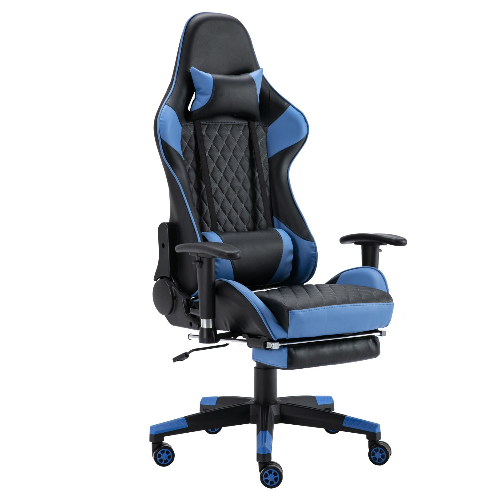 H4a841afa44a141da9e38279423e1f4d4J - Gaming Chair Computer Armchair Adjustable Armrest And Footrest PVC Household Office Chair Ergonomic Computer Gamer Chair