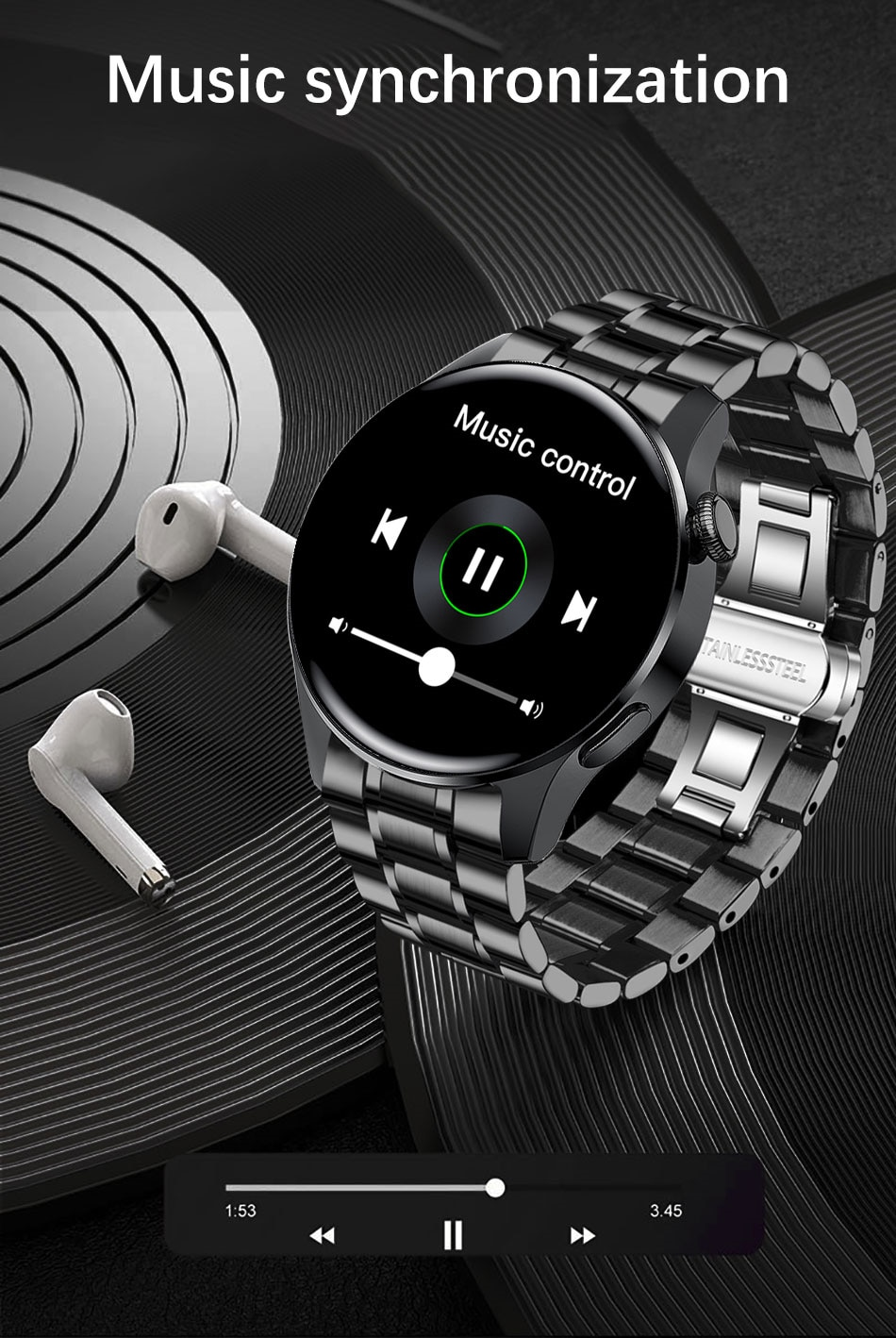 H4aa85fc1af404dcfbb2b1df126351fdet - LIGE New Bluetooth Call Smart watch Men Full touch Screen Sports fitness watch Bluetooth is Suitable For Android ios Smart watch