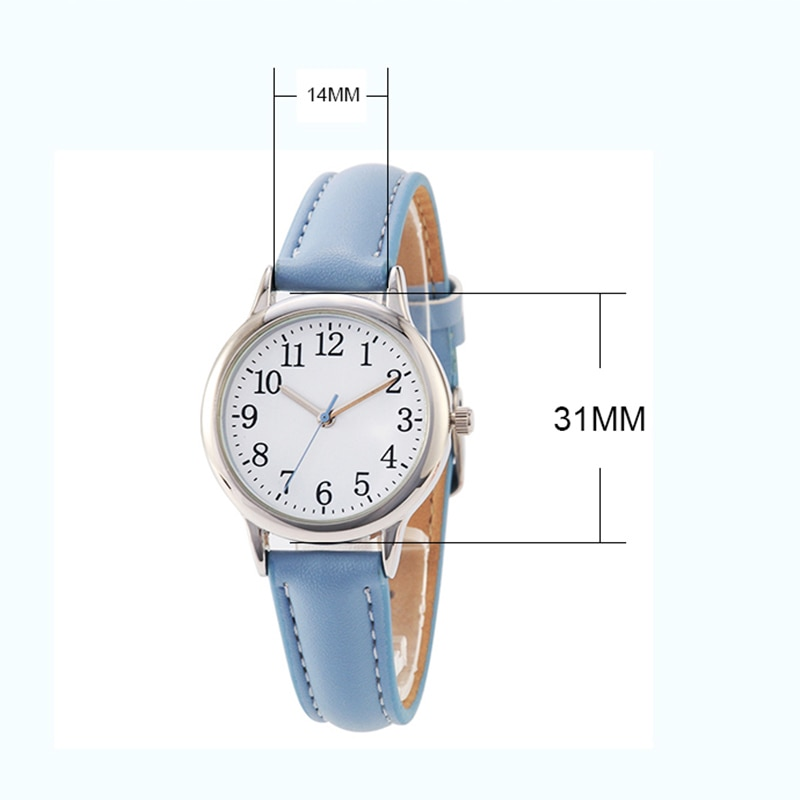 H4e1cb36983b84c2581f85860c0630166a - Japanese Movement Women Quartz Watch Easy to Read Arabic Numerals Simple Dial PU Leather Strap Lady Candy Color