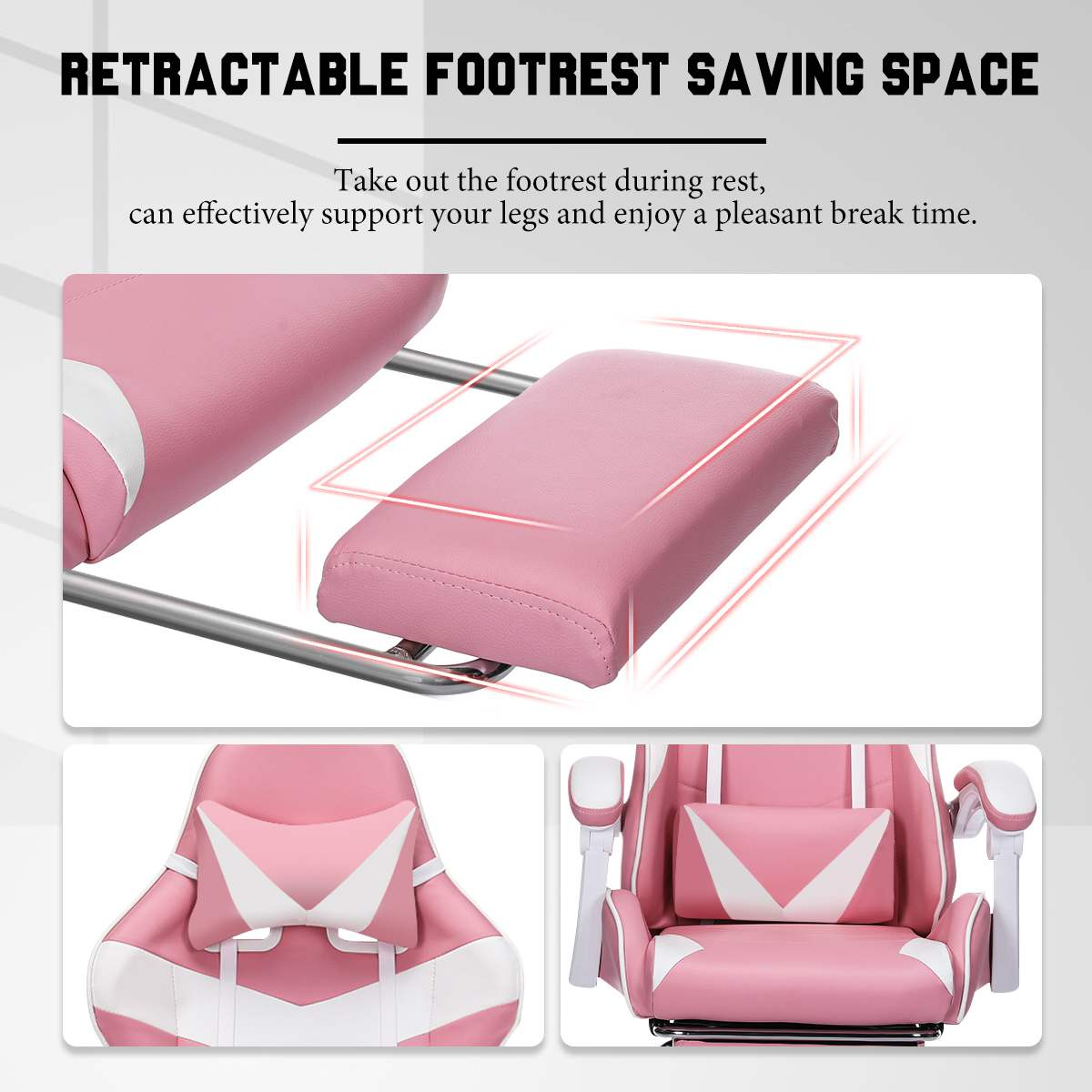 H4e5f2f33e536448889f9f65f4a8a0d87i - Office Computer Chair WCG Gaming Chair Pink Silla Leather Desk Chair Internet Cafe Gamer Chair Household Armchair Office Chair