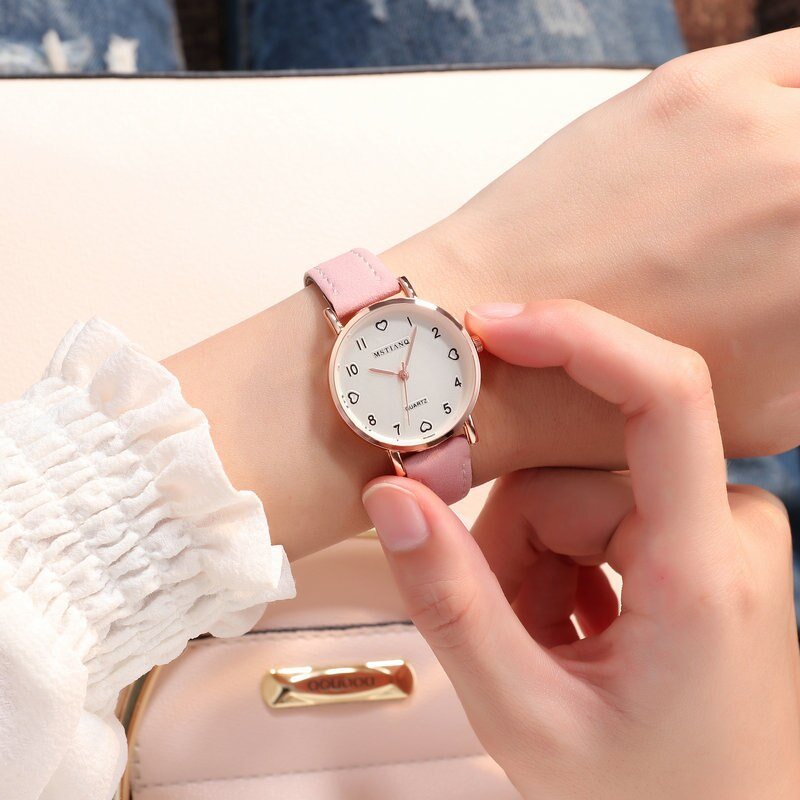 H4e96185f48014b0f9cfa62d87e90f8c86 - Simple Vintage Women Small Dial Watch Sweet Leather Strap Wrist Watches Gift