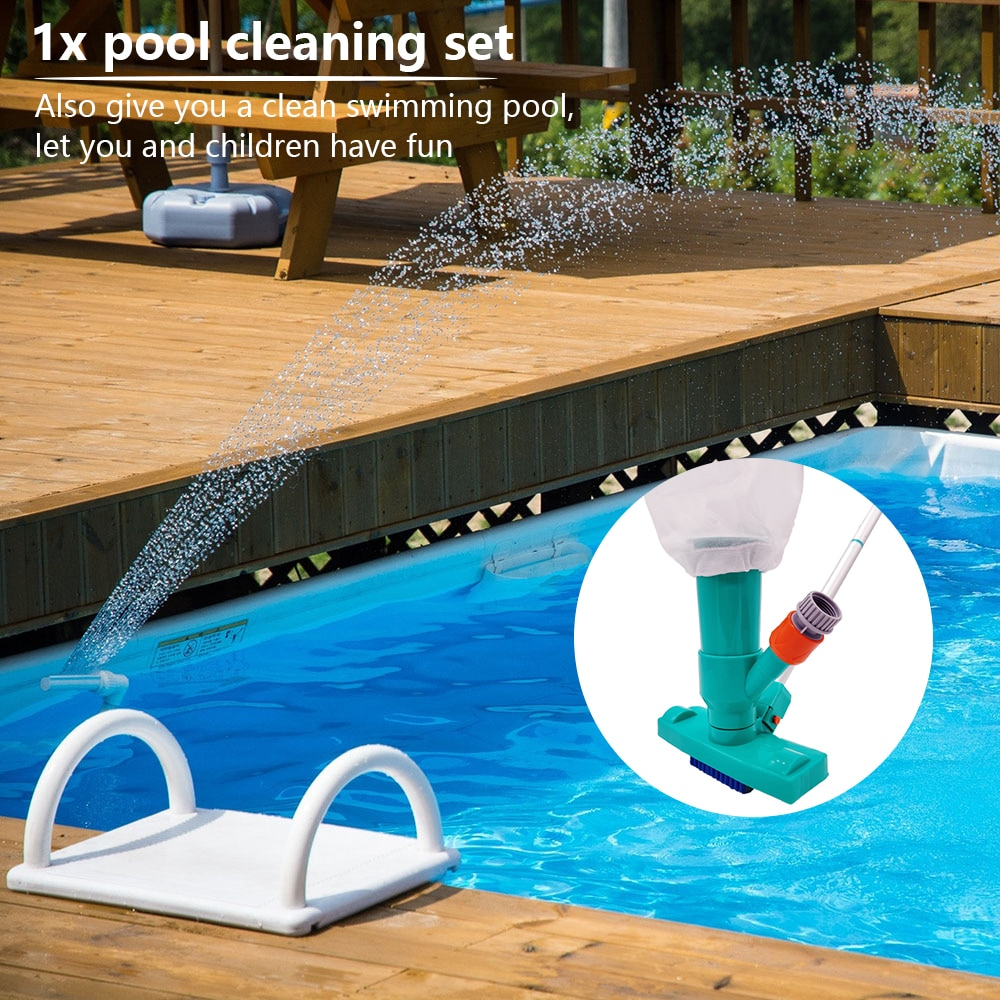 H4f0bbdbce71449869bda8639413675e8W - Hot ! Mini Jet Swimming Pool Vacuum Cleaner Tools set Objects Suction Fountain Pond Head Vacuum Brush Cleaner Cleaning Tools