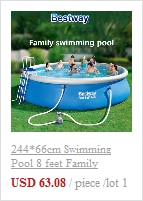 H4fc5e769105748549d3e60cbeca01370B - 244*66cm Swimming Pool 8 feet Family Inflatable,outdoor child summer swimming pool ,Summer Water Backyard Pool Party Supply