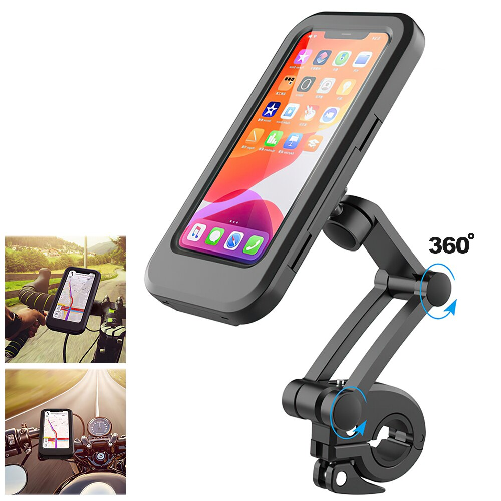 H51912498ba0049ac97390429626a82dc9 - TRAVOR Phone Holder Adjustable Stand Car Phone Holder Clip Waterproof Bracket Bicycle Handlebar Mobile Support Mount Phone Stand