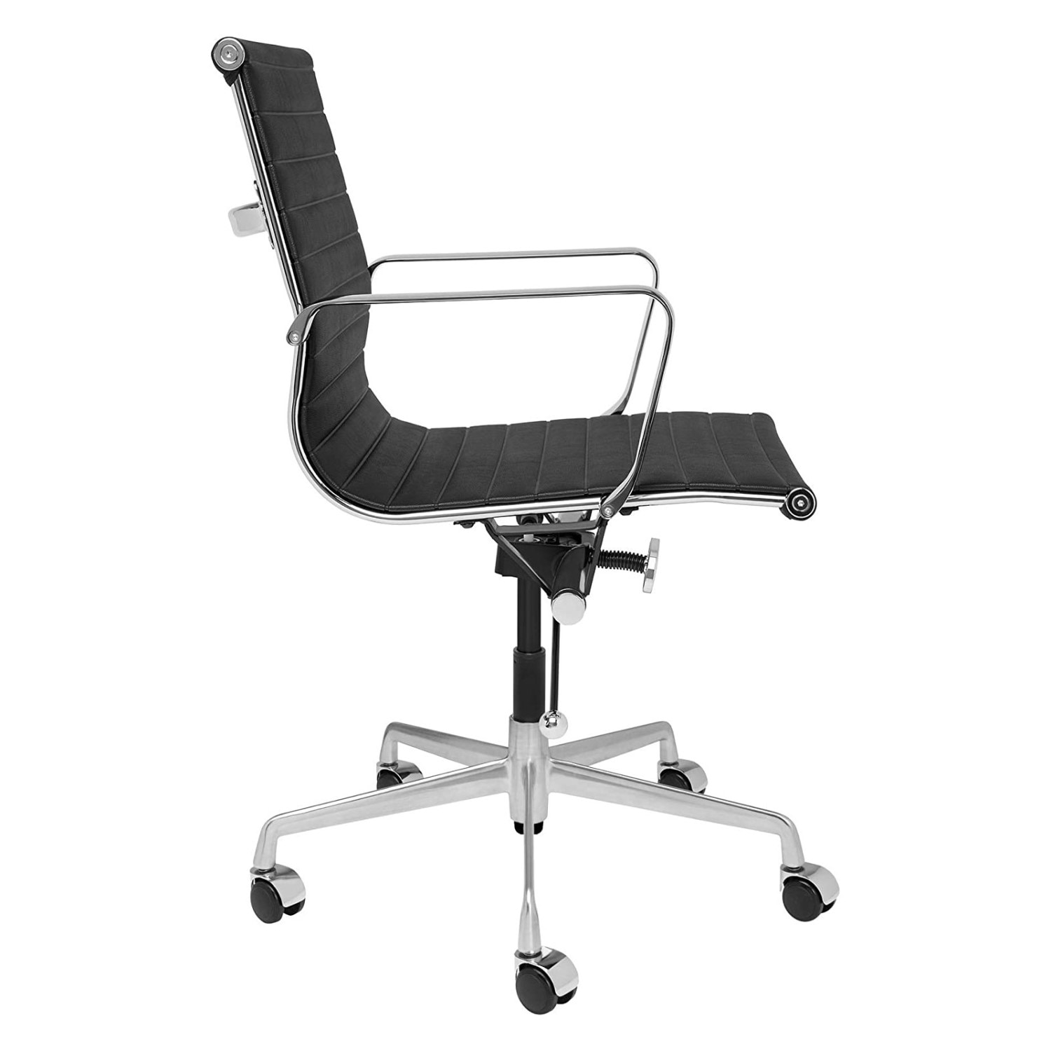 H51a5693ef3fa47f9a96644af0b5bf7beQ - Furgle Executive Office Chair Mid Back PU Leather with Arms Rest Tilt Gaming Chair Adjustable Height with Wheels Swivel Chairs