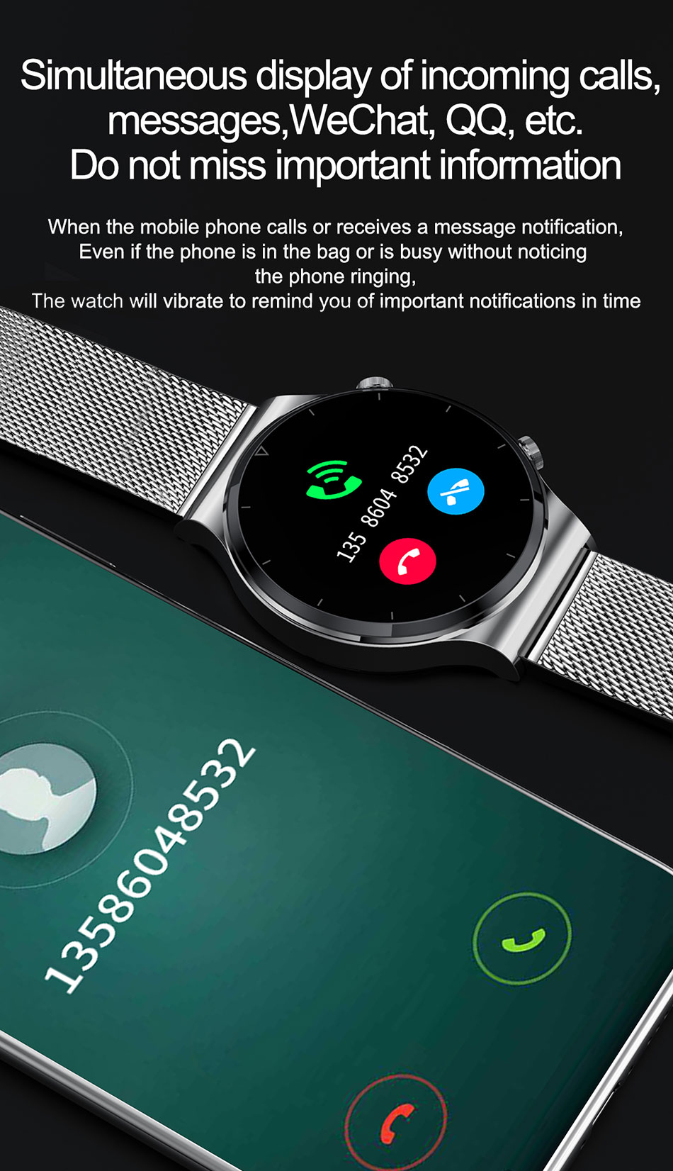 H51c0e740c342464285e825244f771b9ab - LIGE New Smart watch Men Heart rate Blood pressure Full touch screen sports Fitness watch Bluetooth for Android iOS smart watch