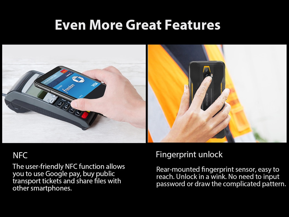 H521cc4031c884230bfd7cade5d0f91b6t - BLACKVIEW BV6300 Pro Helio P70 6GB 128GB Smartphone 4380mAh Android 10 Mobile Phone Quad Camere NFC IP68 Waterproof Rugged Phone