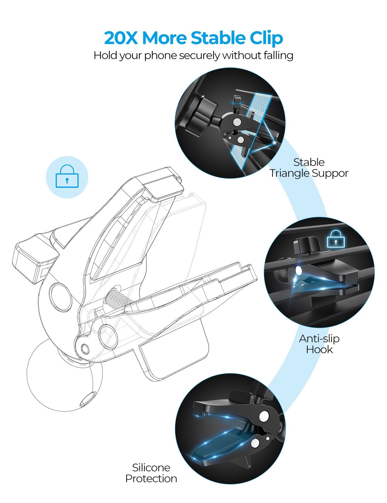 H52afff1c8ba148f3be55b6e67c547c00W - MPOW CA163 Universal Air Vent Car Phone Mount with Stable Clip and Dual Release Button Compatible with iPhone 12 11 Pro and More