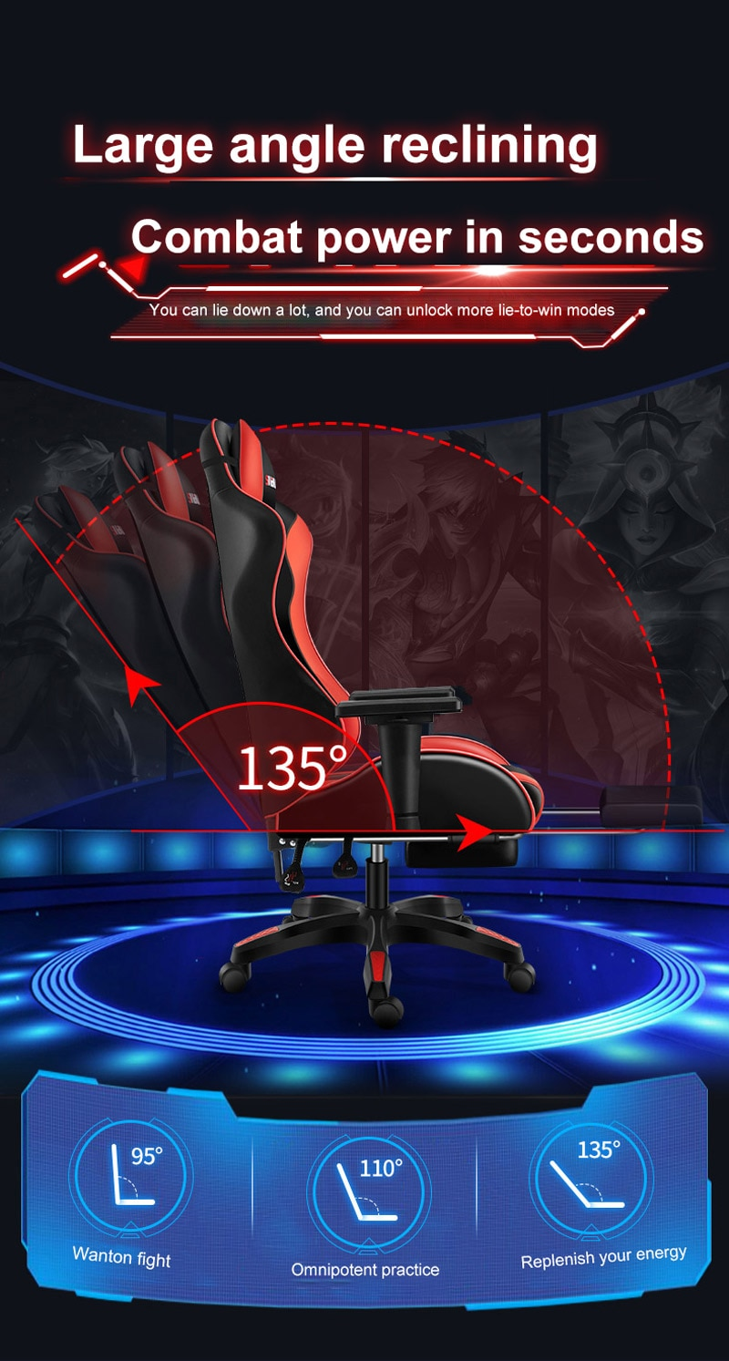H54d9bf7a07d3430695451e9cc8b3a544K - Computer Gaming Chair Safe And Durable Office Chair Ergonomic Leather Boss Chair Wcg Game Rotating Lift Chair High Back Chair