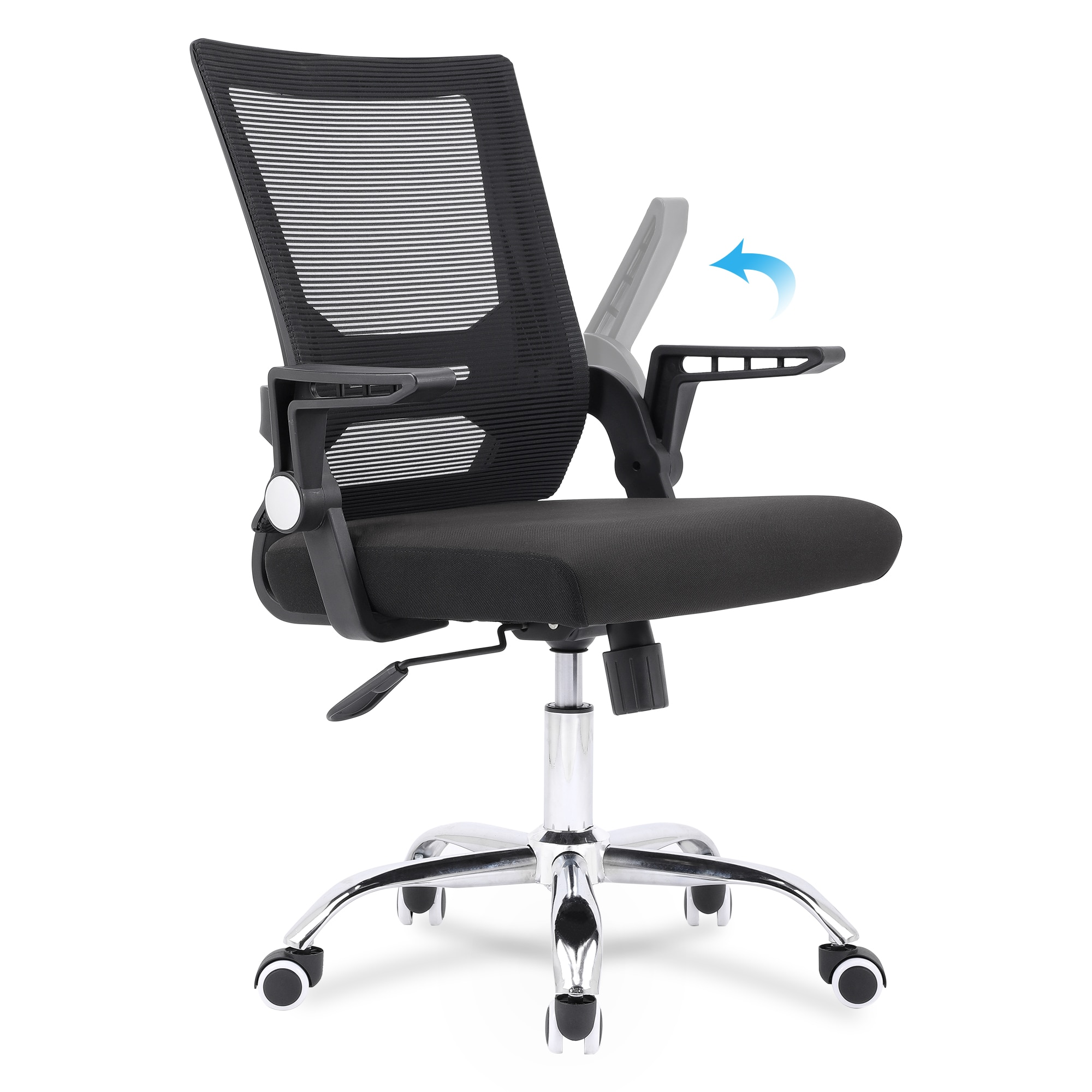H555ed2bb0bd24f5993e459988a7c51027 - Sigtua Swiveling Desk Chair Breathable Height-adjustable PC Chair Ergonomic Executive Black Computer Office Chair