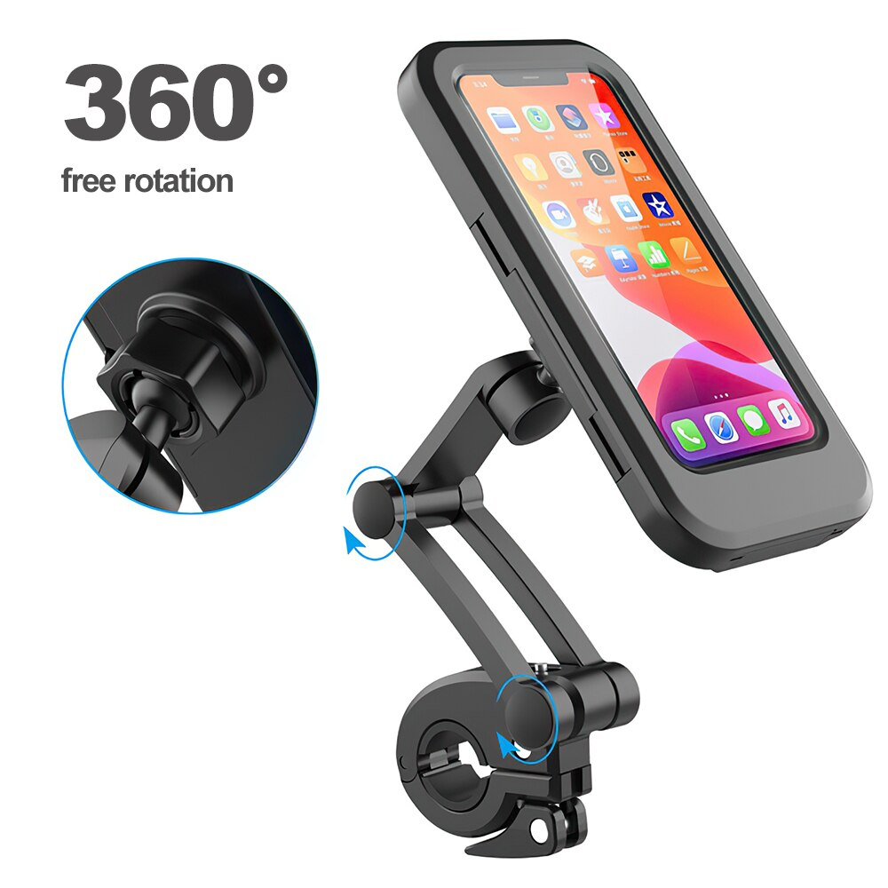 H58c7f8173a3843888b736eb960f3dae0R - TRAVOR Phone Holder Adjustable Stand Car Phone Holder Clip Waterproof Bracket Bicycle Handlebar Mobile Support Mount Phone Stand