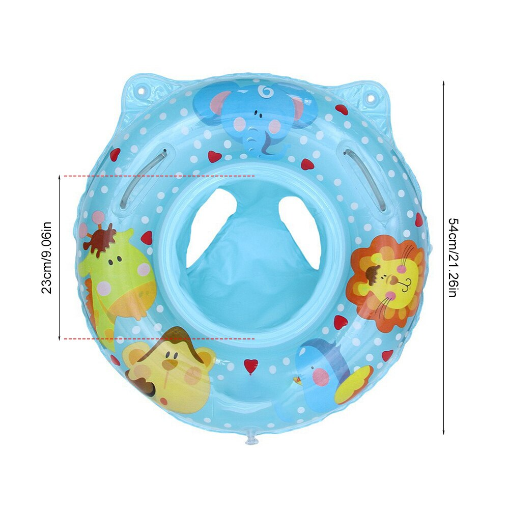 H59cdb824f2034943bbeda602dff15885k - Lnflatable Child Seat Swimming Ring Dual-Handle Safety Baby Seat Floating Water Toy Children Swimming Accessories