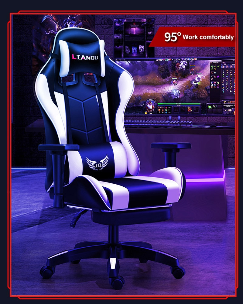 H5a090d5b5fa24deebc4ca7721210f19ba - Computer Gaming Chair Safe And Durable Office Chair Ergonomic Leather Boss Chair Wcg Game Rotating Lift Chair High Back Chair