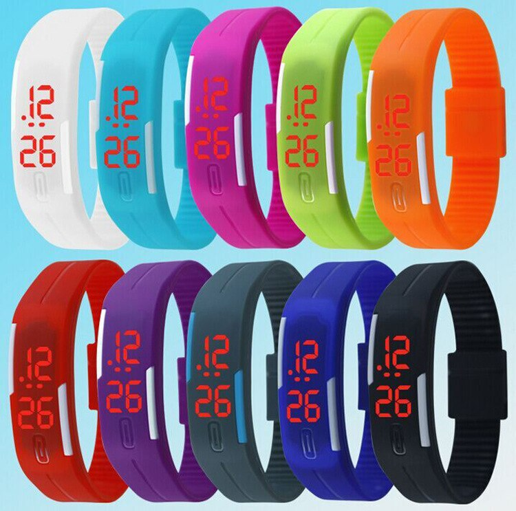 H5ca57d13be4d4a5ea3413fd0e09a4d11l - New hot Fashion led Watches Candy Color Silicone Rubber Touch Screen Digital Watches, women men Bracelet Sports Wristwatch